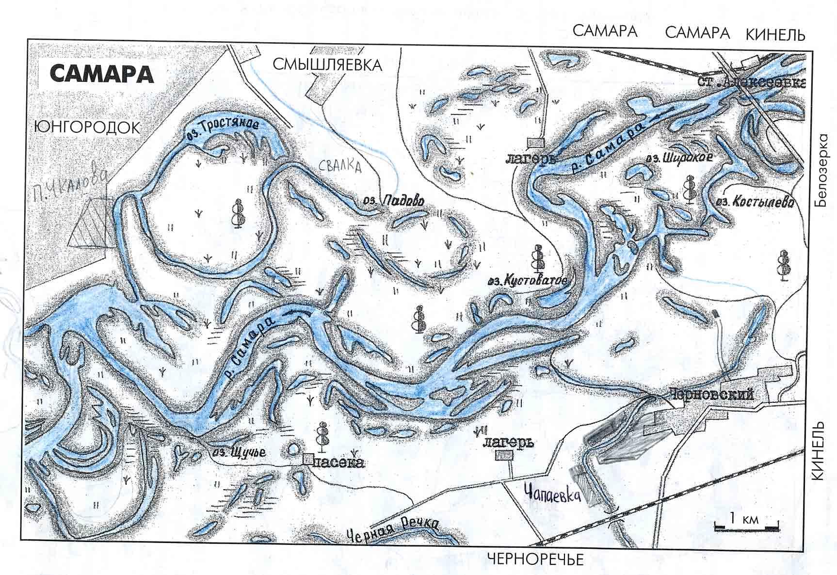 водная карта саратовской области для рыбалки
